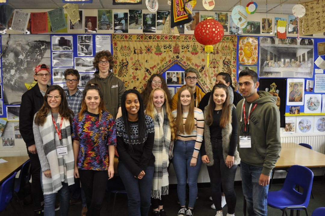 Maayan Meir (Front Left) and Idan Nimtsovich (Front Right) with Sixth Form Philosophy & Ethics students