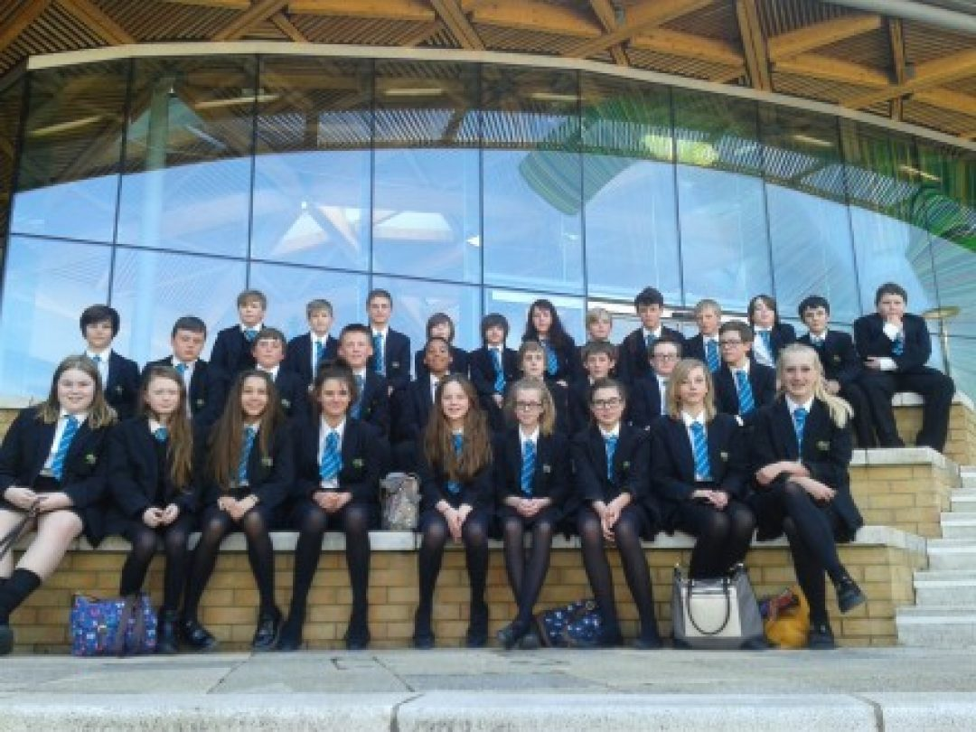 Year 8 students at Exeter University