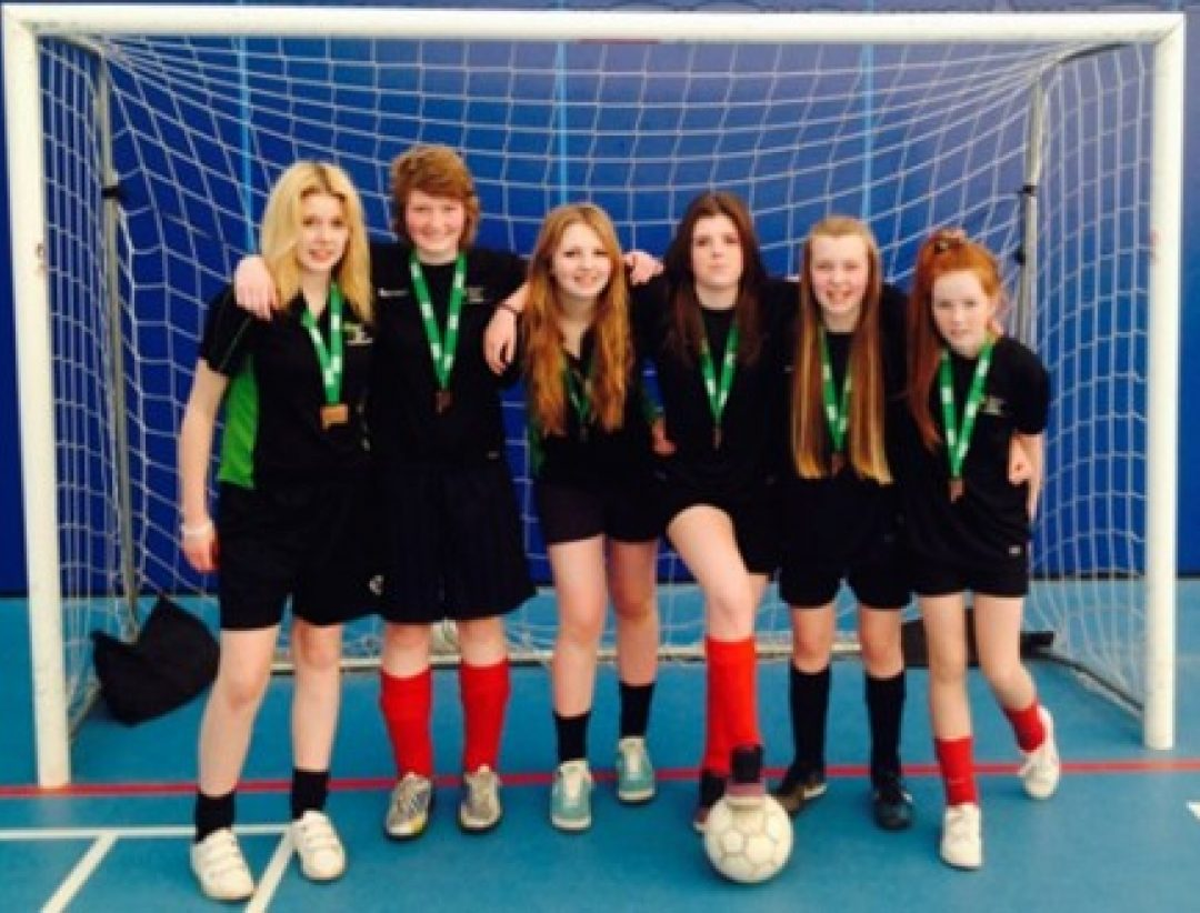 Pictured with their Bronze medals (L-R): Kara Hawkin, Lucy Pritchard, Amber Mold, Lauren Day, Mollie Rogers and Lucia James
