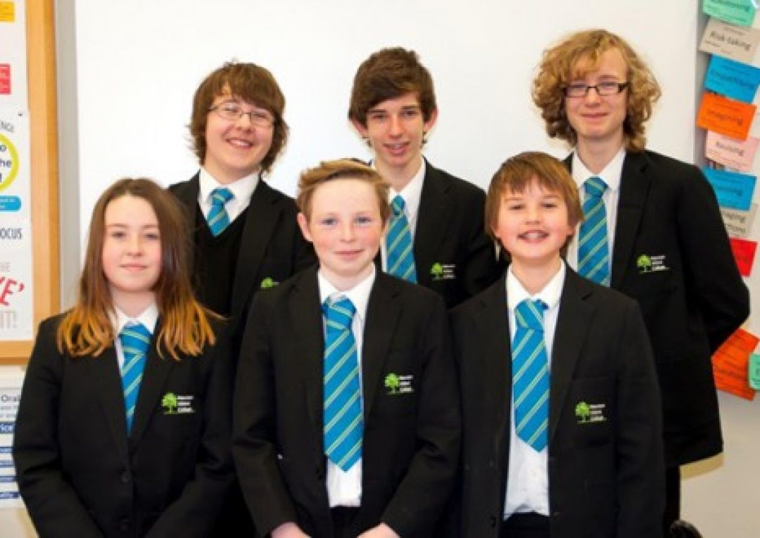 Back Row = Wyn Firth, Alex Penwell & Edward Cotterill (Year 10) Front Row = Phoebe Sanders, George Bartlett & Oscar Tettmar (Year 7)