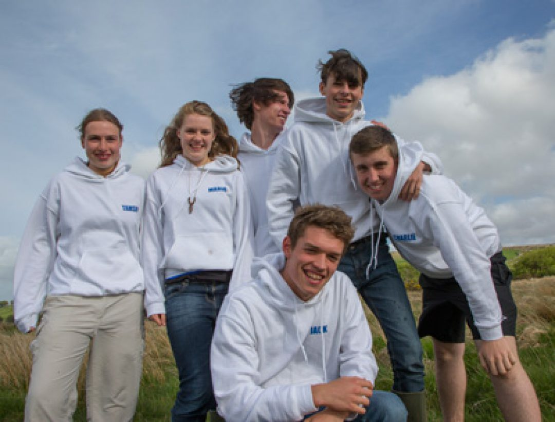 Tamsin Elliot, Maria Bond, Dan Rock, Harry Tansey, Charlie Mitchell and Jack Pearson (front).