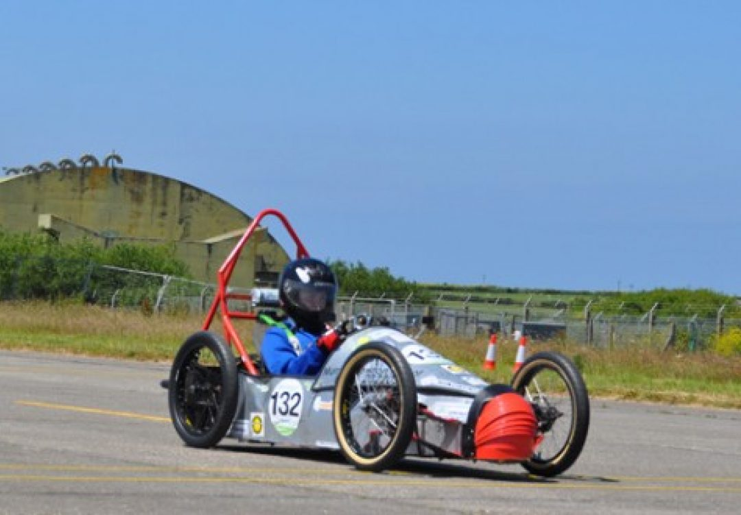 'Lucy' racing at the Greenpower Challenge