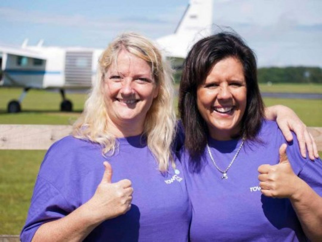 Kirsty and Joy at Dunkeswell Airfield, Honiton