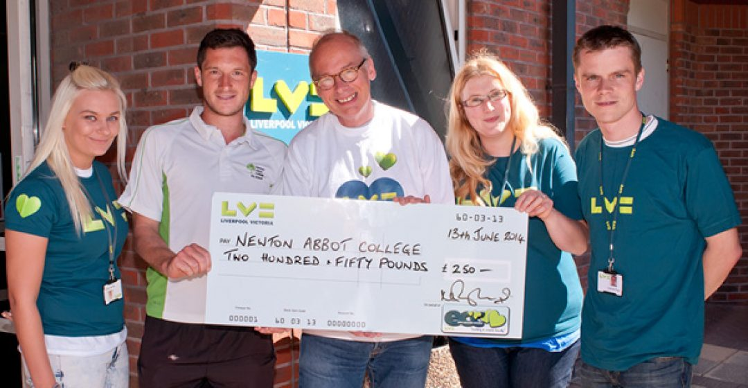 L-R: Ian Patchett (2nd left) with Rachael Cherry, Nigel Tant, Rachel Pill and Ashleigh Riggs from LV=