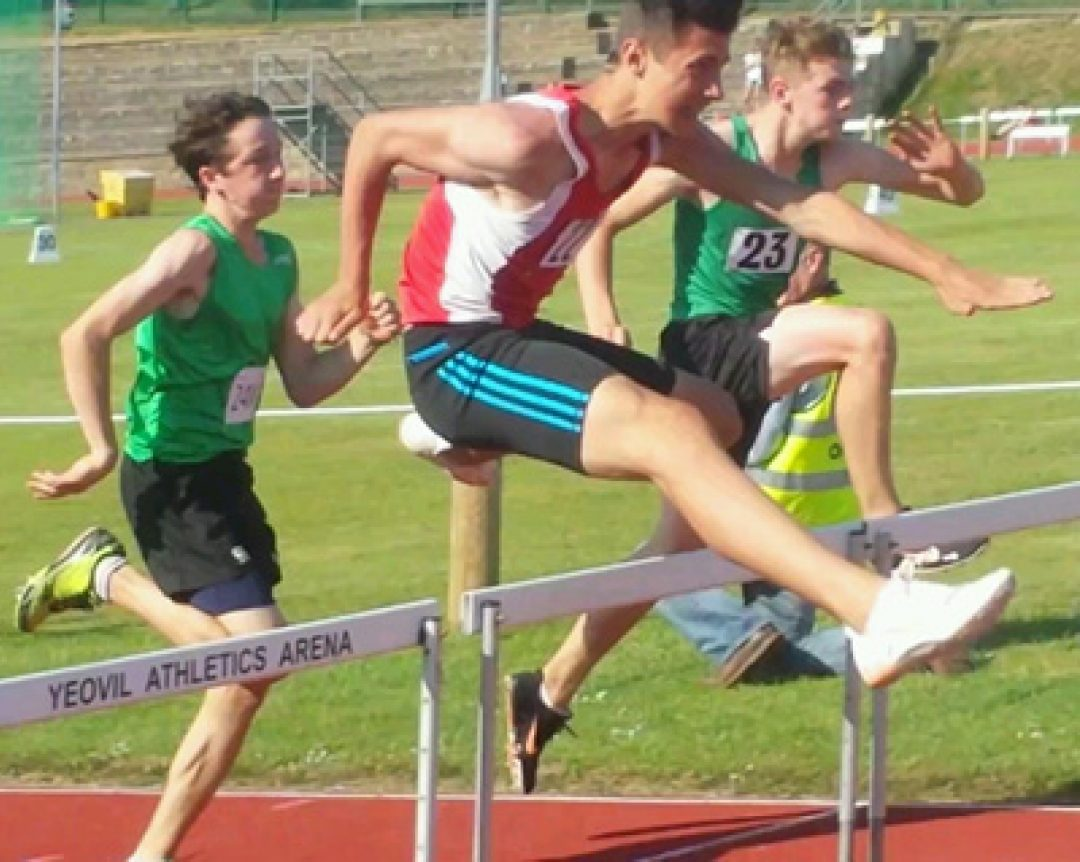 Tommy D'Cruz (front centre) competing at the South West Schools Championships