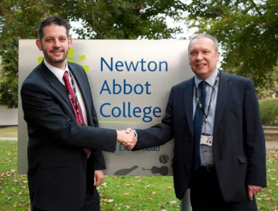 Paul Cornish, Principal, and Steve Joint, Chair of Governors