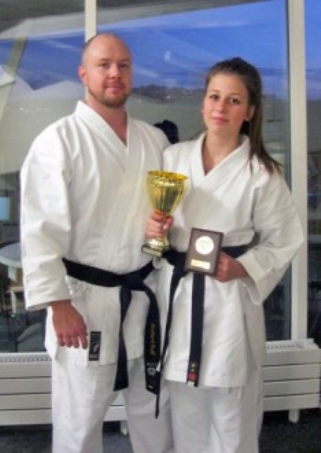 Sensei Richard Cuff and Harriet Hebbes