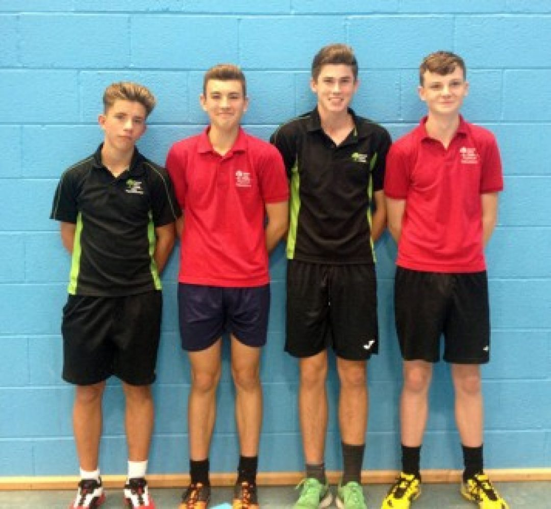 L - R: Jacob Cole, Ashley Dove, Christian Colledge and Charlie Otto.