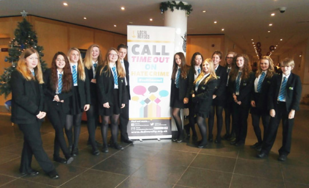 Year 10 students at the Future Inns at Plymouth for the Local Heroes training day (a Devon and Cornwall Police initiative).