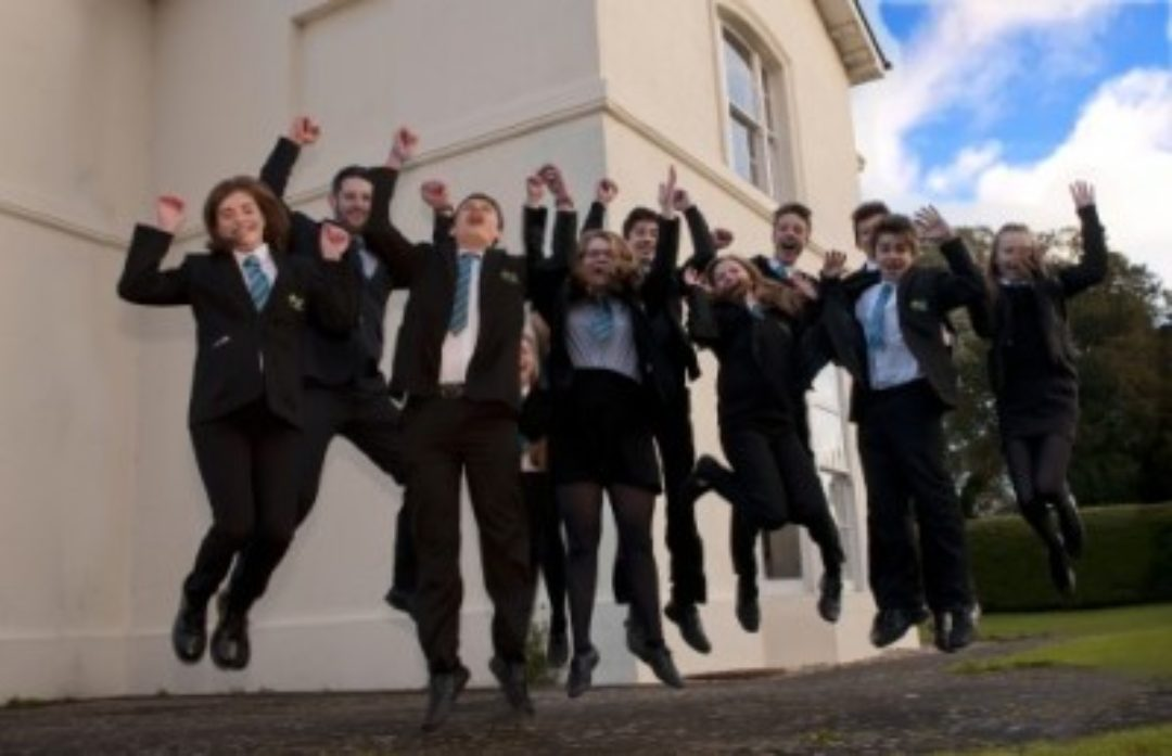 College Students Celebrating Results