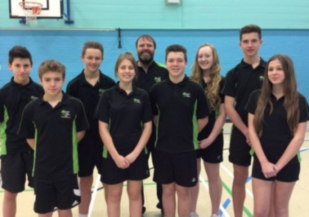 Sports Captains With PE Teacher