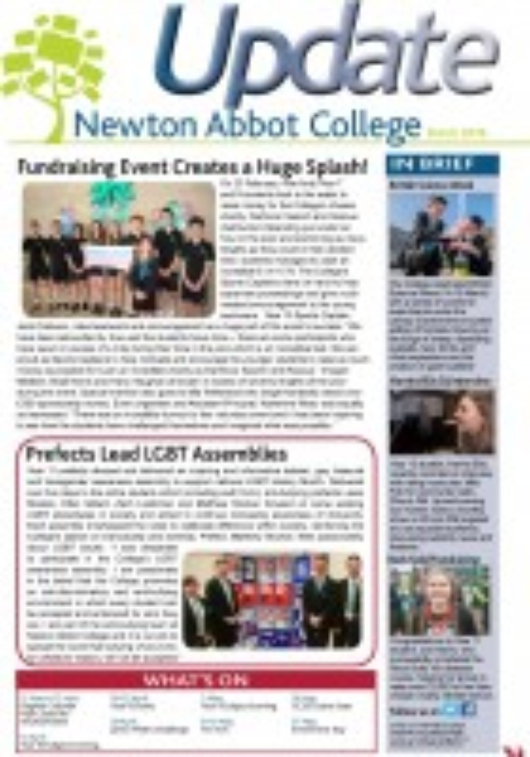 Newton Abbot College Update March 2016 Ofsted Good