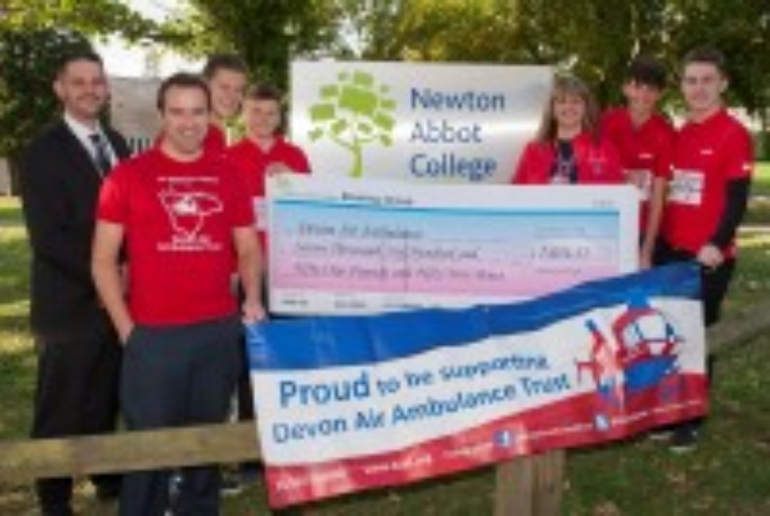 Newton Abbot College Devon Air Ambulance Fundraising Ofsted Good
