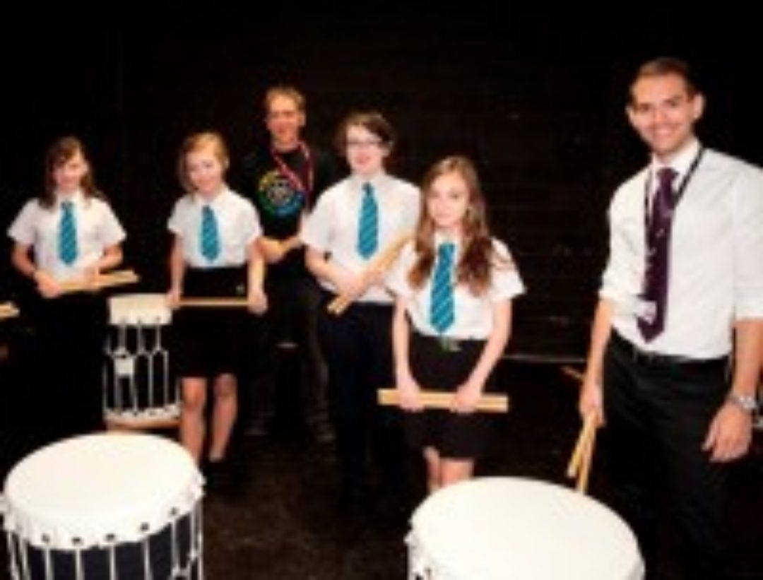 Newton Abbot College Taiko Drumming Workshop Ofsted Good Secondary School
