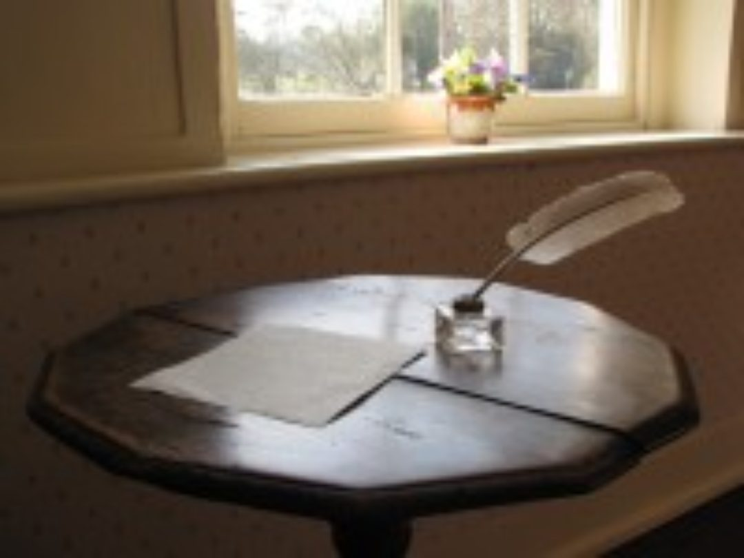 Jane Austen's writing table top Newton Abbot College Ofsted Good