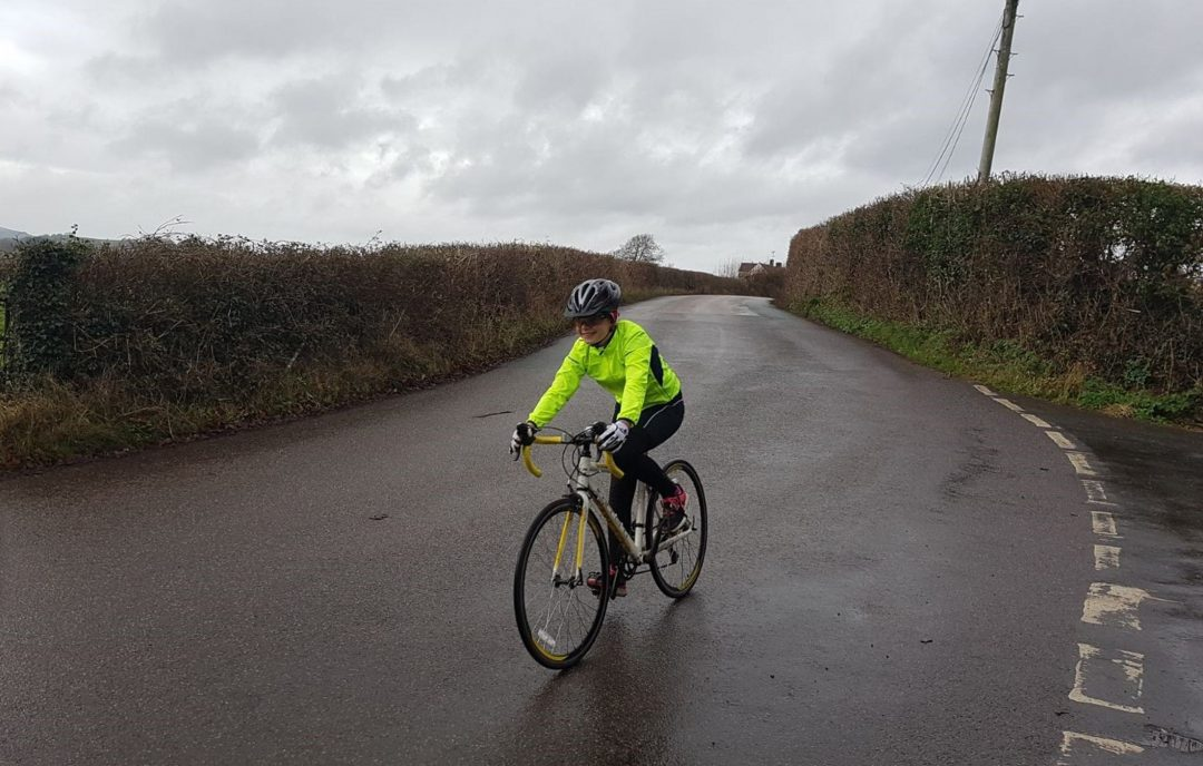 Olivia Cycled 26 Miles from Denbury to Chudleigh and Back