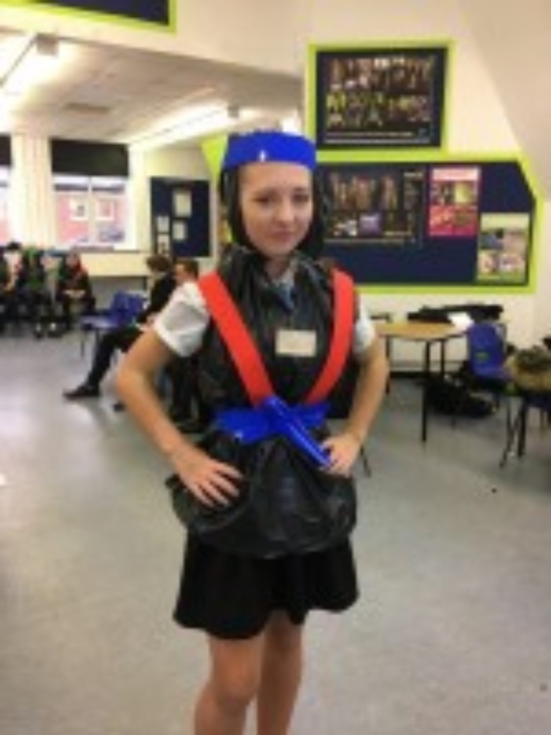 Newton Abbot College Secondary SChool Ofsted Good Business Festival Week Poncho Challenge