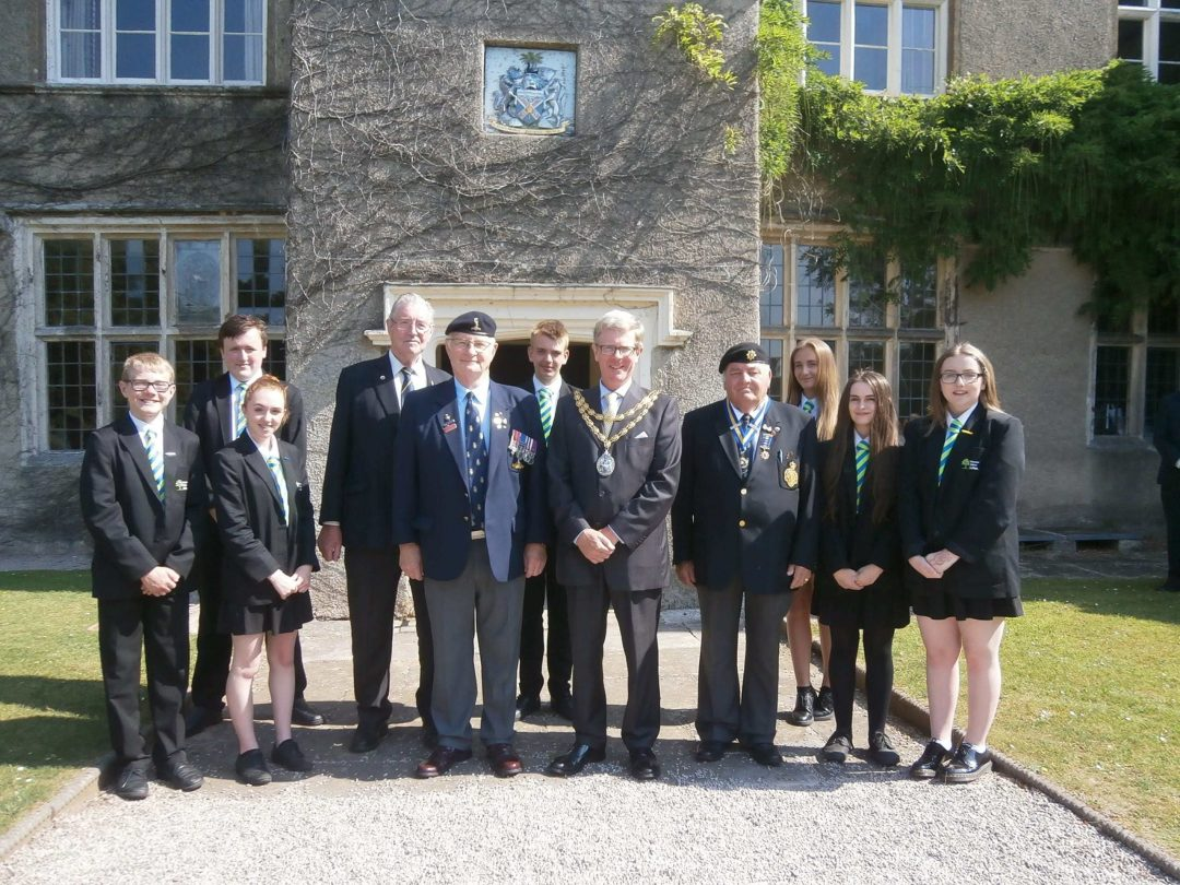 Prefects commemorated the start of Armed Forces Week at Old Forde House