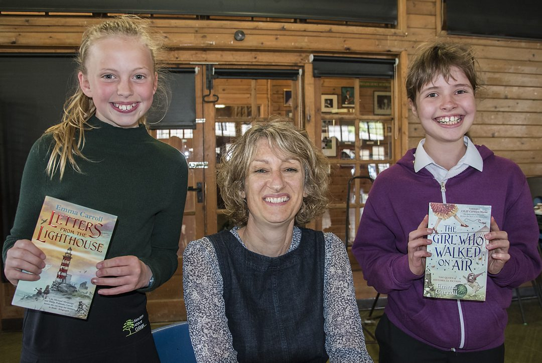 Students had the chance to meet with visiting author, Emma Carroll