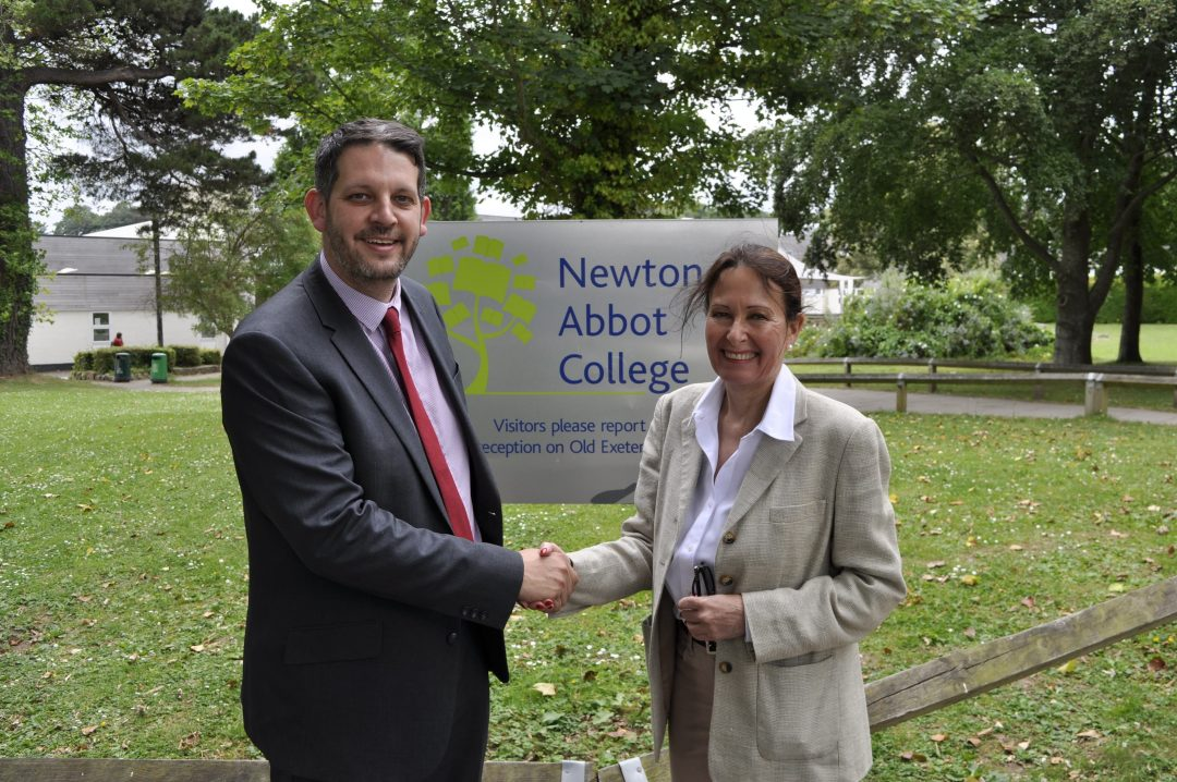 Principal Paul Cornish with Conservative MP, Anne Marie Morris