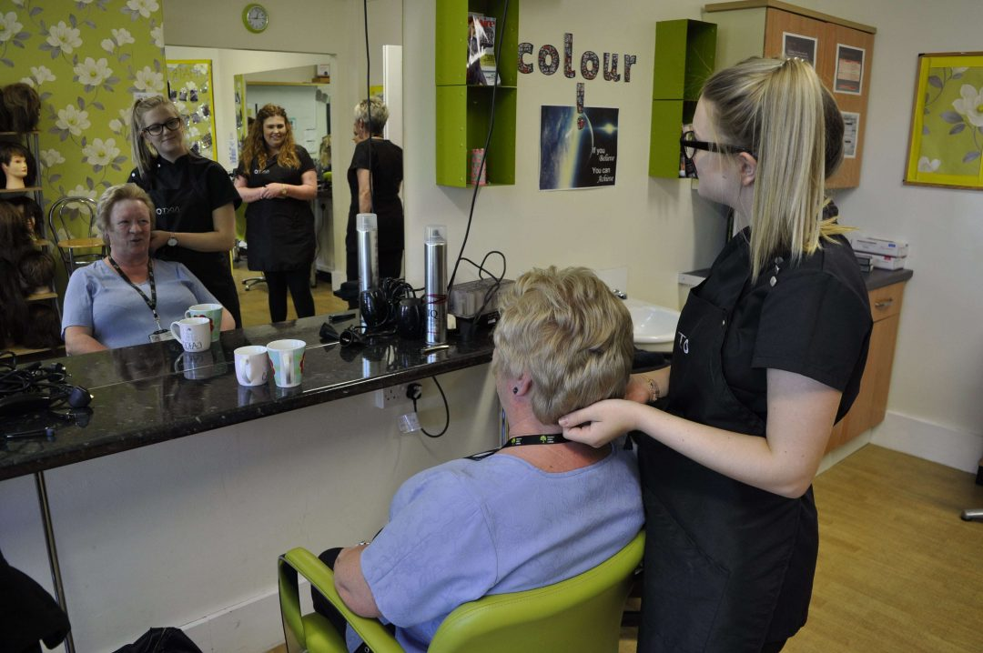 Staff and members of the public enjoyed treatments througout the day