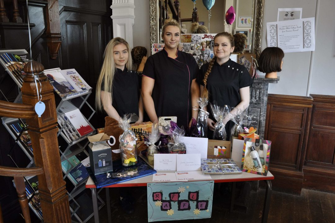 Students also organised a raffle and cake sale