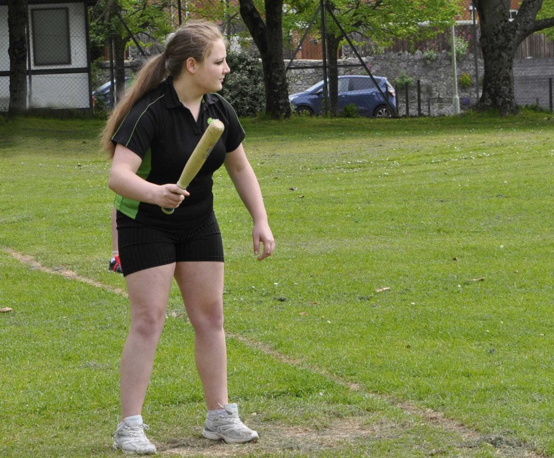 Imogen on the rounders pitch