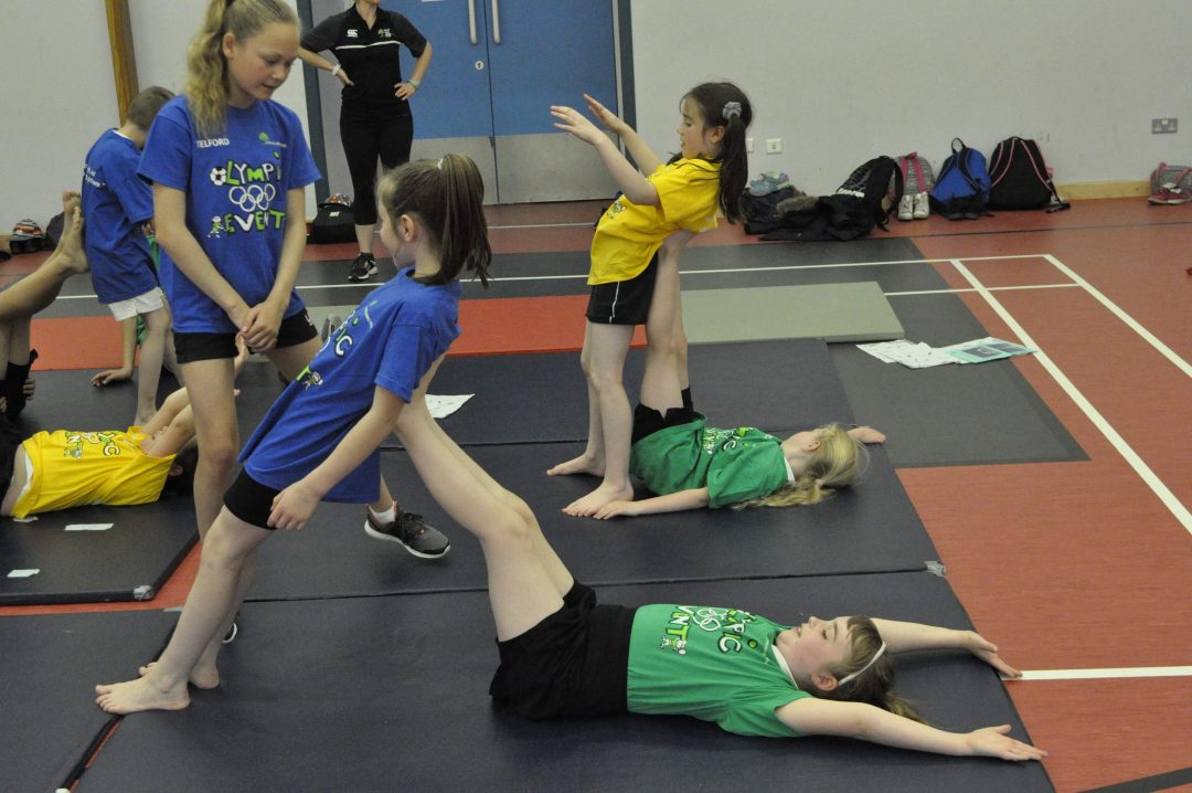 Pupils enjoyed a carousel of activities including gymnastics