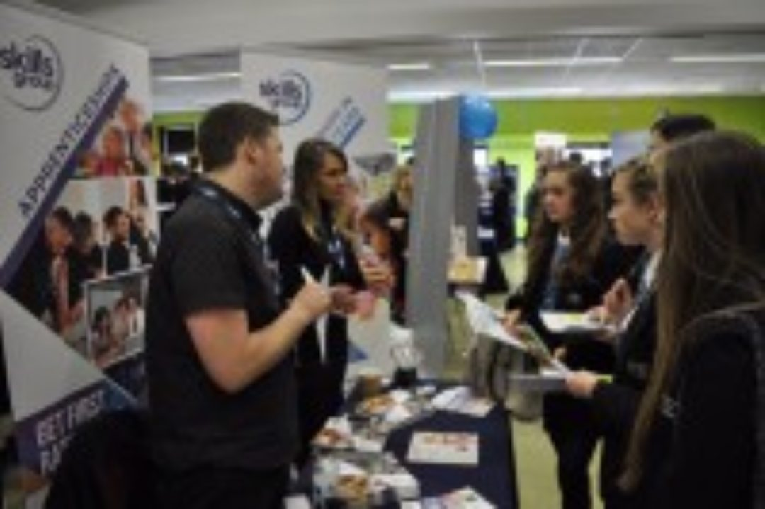 Students at Newton Abbot College Careers Fair