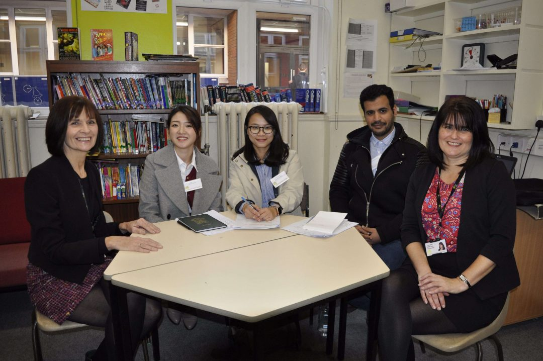 The visiting students met with the College's DSEN Team