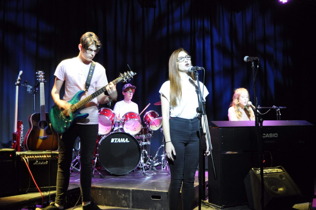Sixth Form Band, 'In Motion' performing at their inaugural gig