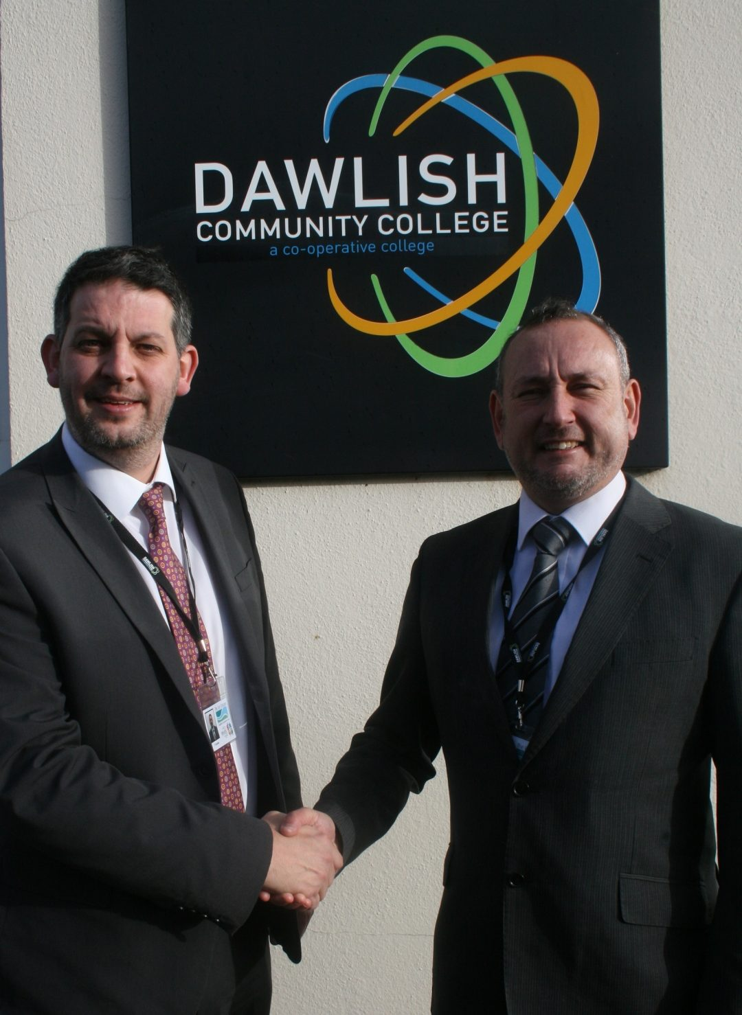 Right – John Simons, Principal Dawlish Community College       Left – Paul Cornish, Executive Principal Newton Abbot College + Dawlish Community College