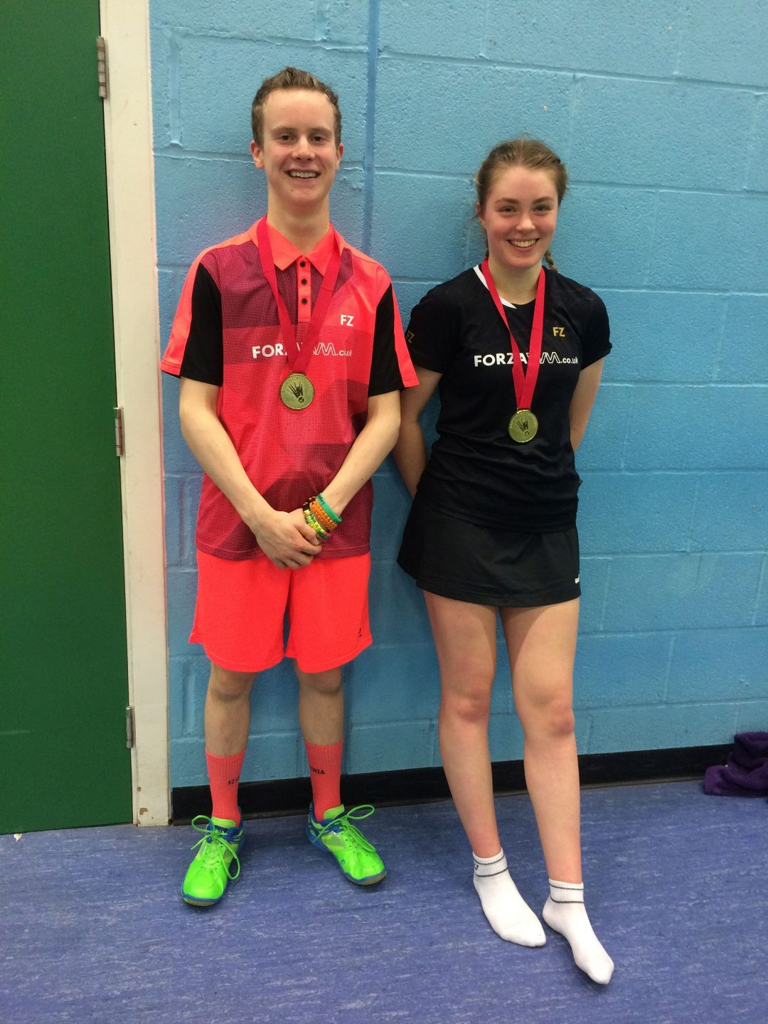 Zak-Ray with Mixed Doubles Partner, Megan Brierley
