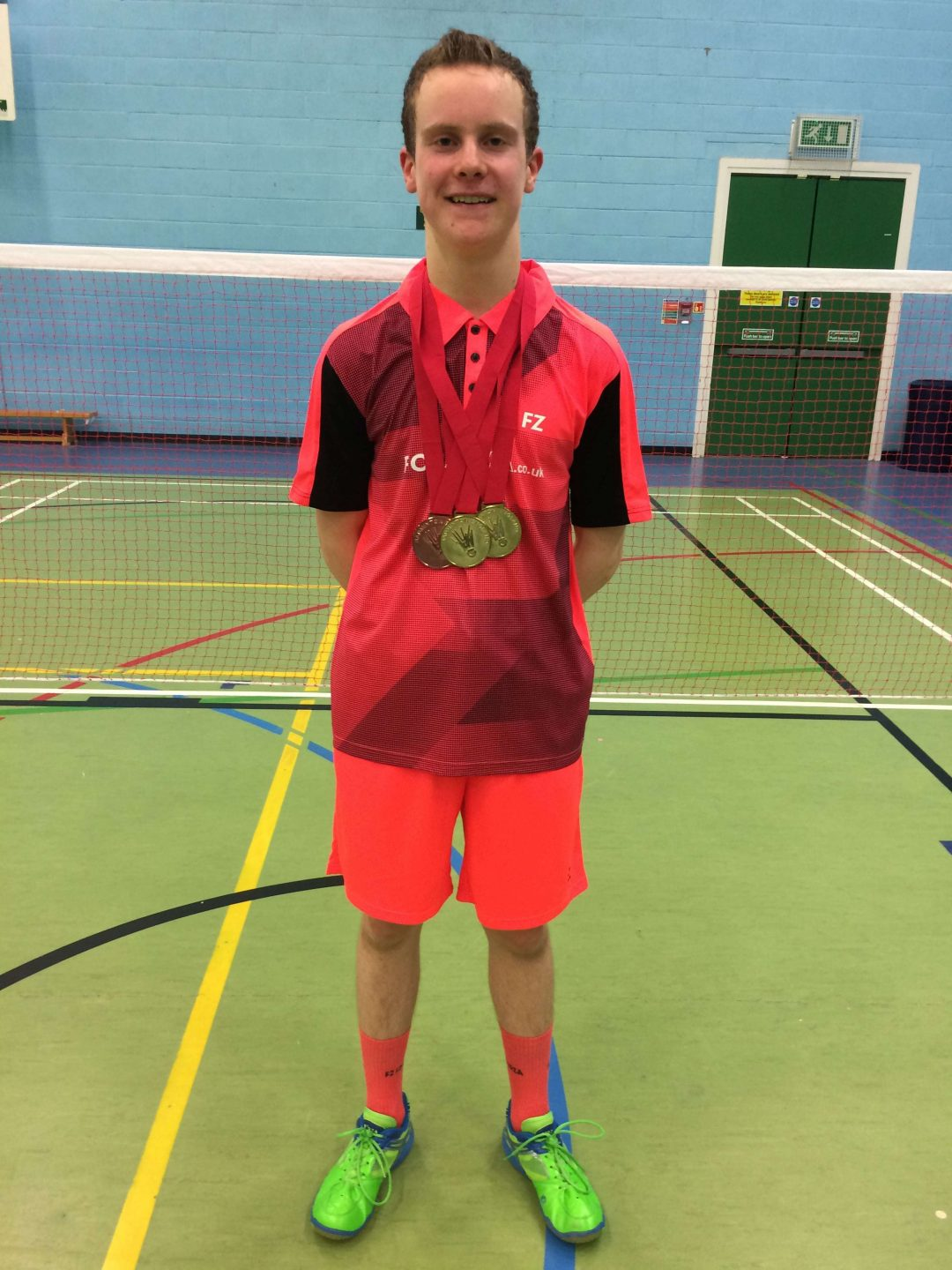 Zak-Ray Linley-Moss with his winning medals