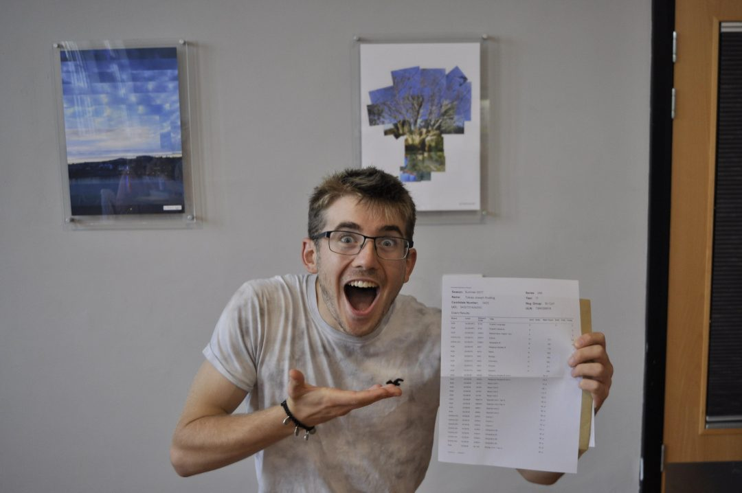 Toby Rudling was happy with his results!