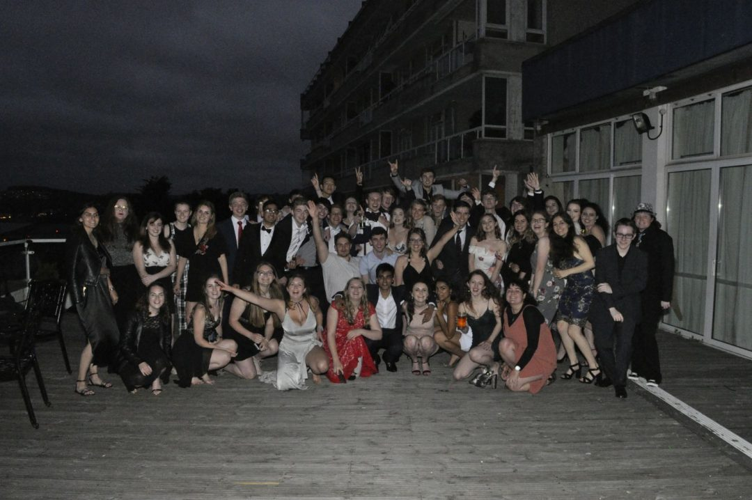 The College's Sixth FOrm Students celebrate the end of their A Level exams