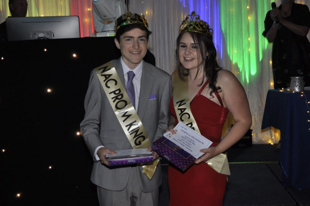 Prom King and Queen: Lewis Starkie and Alayna Foot