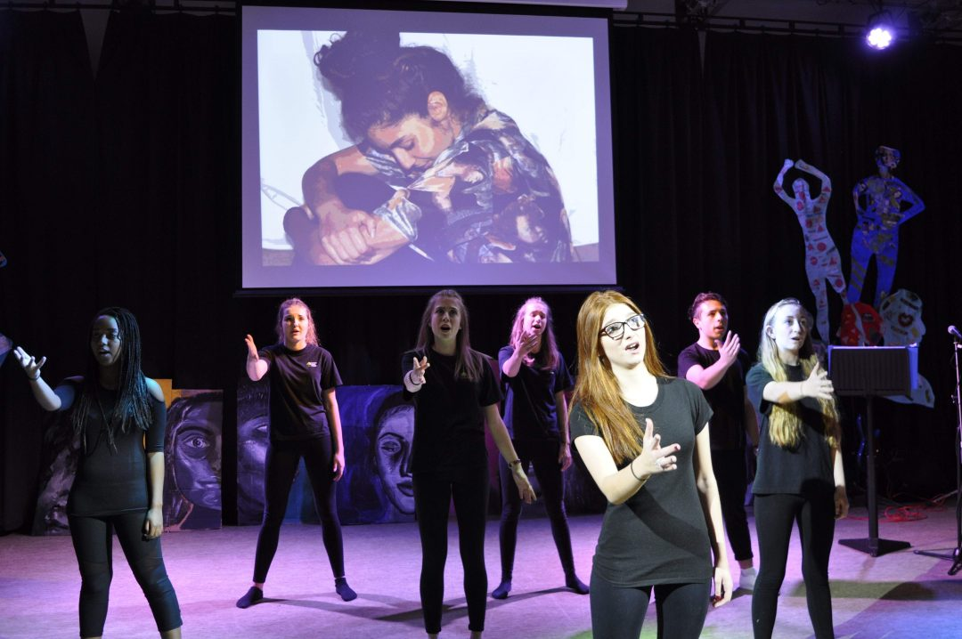 Year 12 & 13 students perform 'Waving Through a Window'