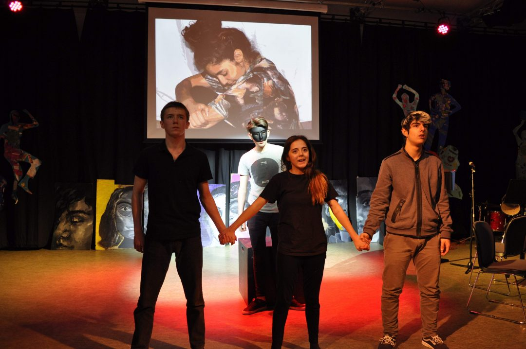Year 12 Drama students perform a hard-hitting piece inspired by the work of Artaud