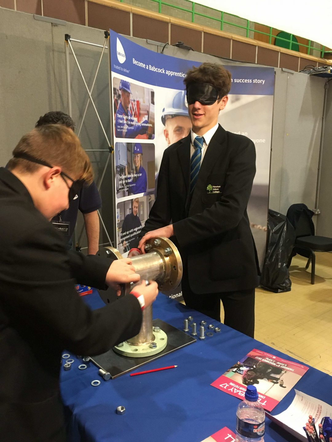Year 10 Tom Keight at one of the TechBay stands