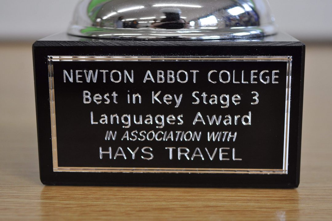 The award will be given to a Year 7 or 8 student