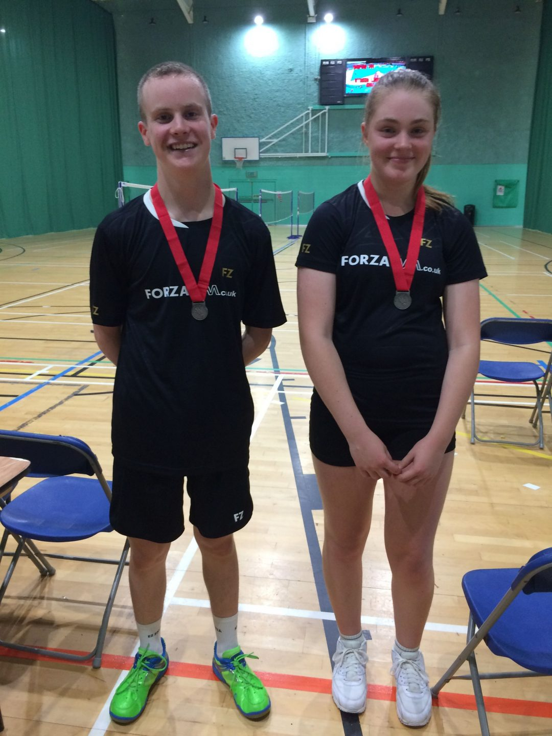 Zak-Ray and his mixed doubles partner, Megan Brierley
