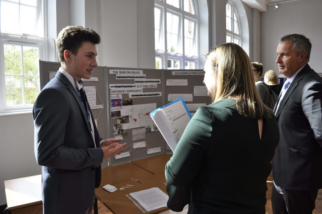 Students presented their work to staff, student, friends and family