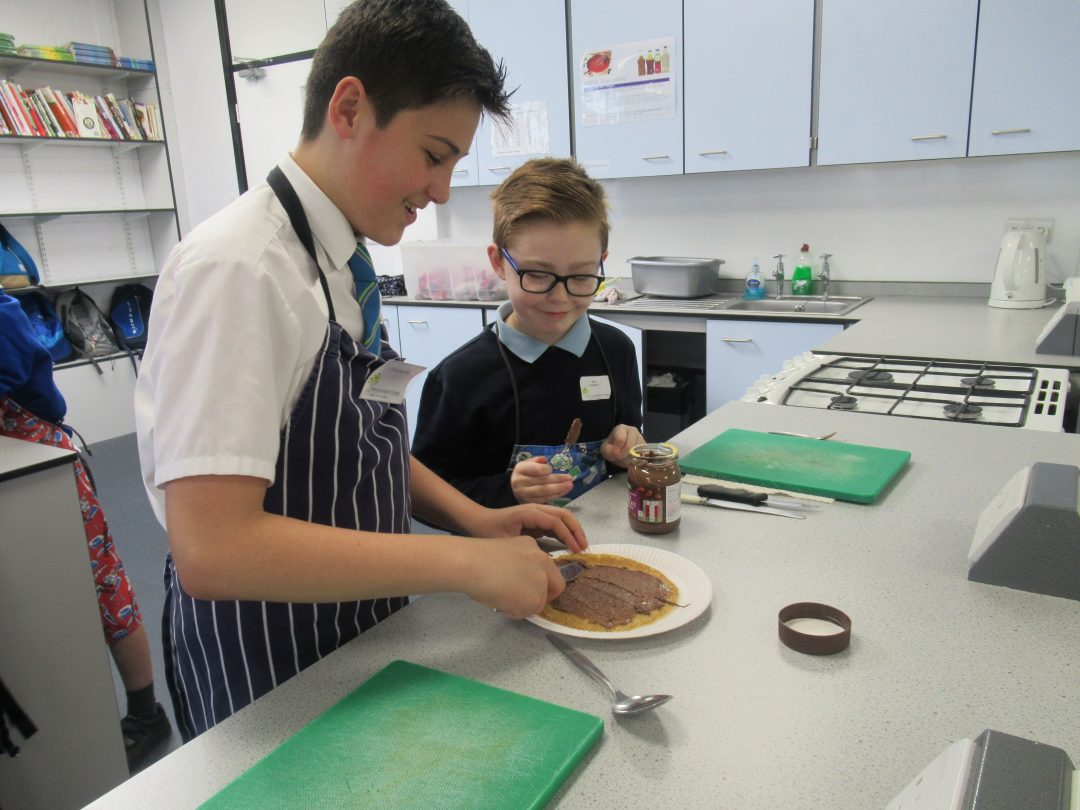 College students and primary pupils worked together on their creations