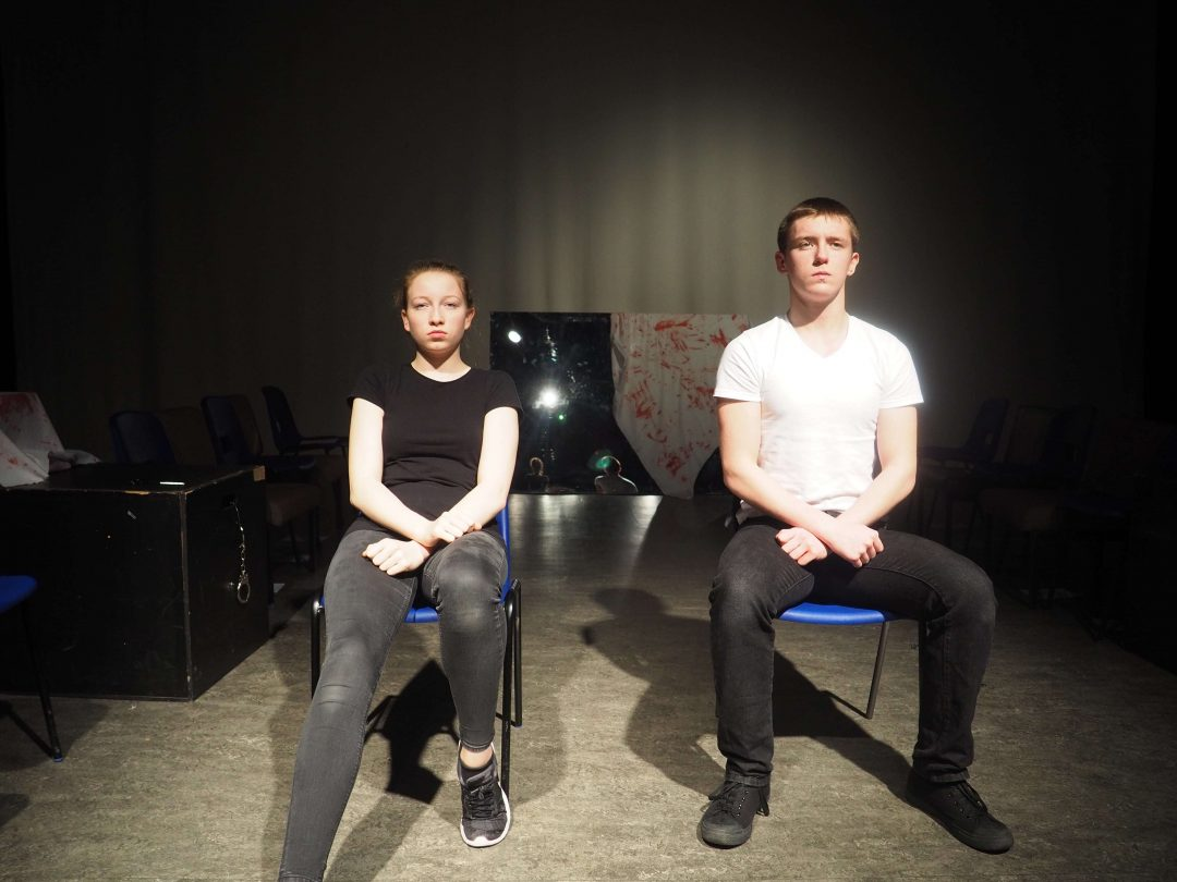 Cailtlin Johnston and Joseph Ryder perform 'Judge, Jury and Executioner'