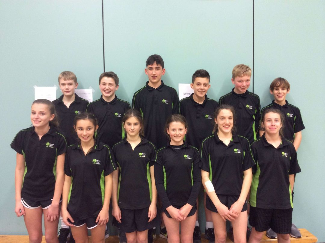The College's U13 athletes came seventh at the county finals