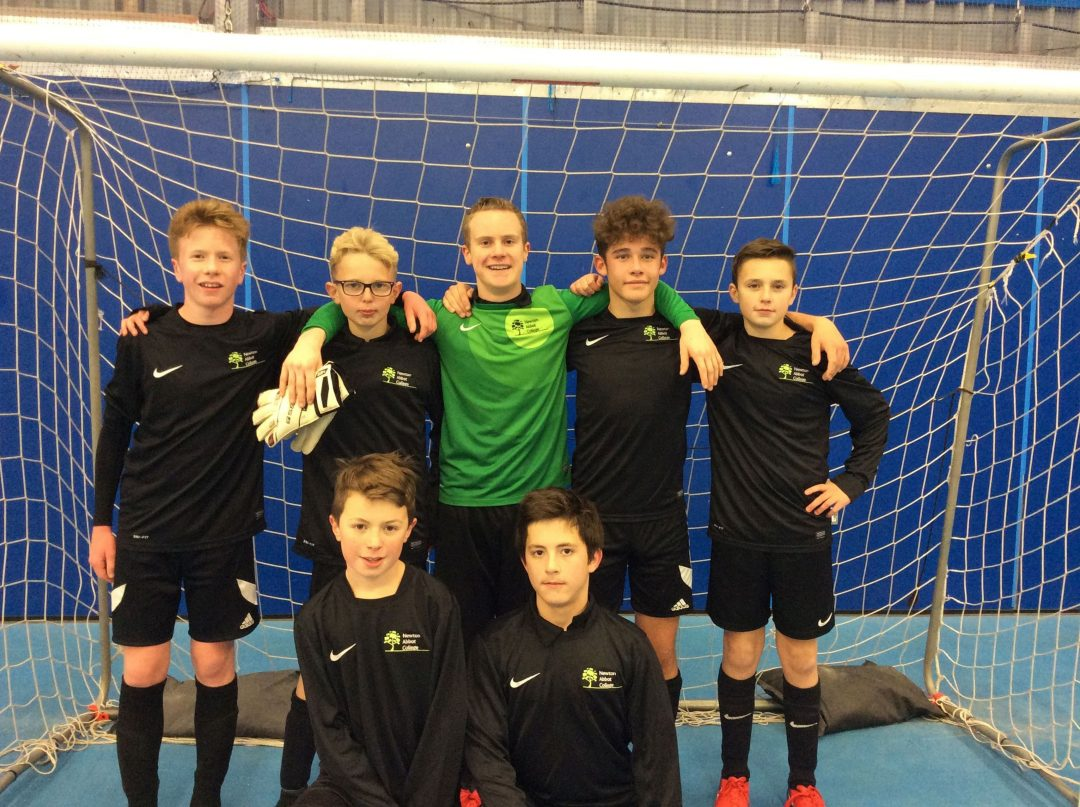 Newton Abbot College's U14 Boys Futsal Team