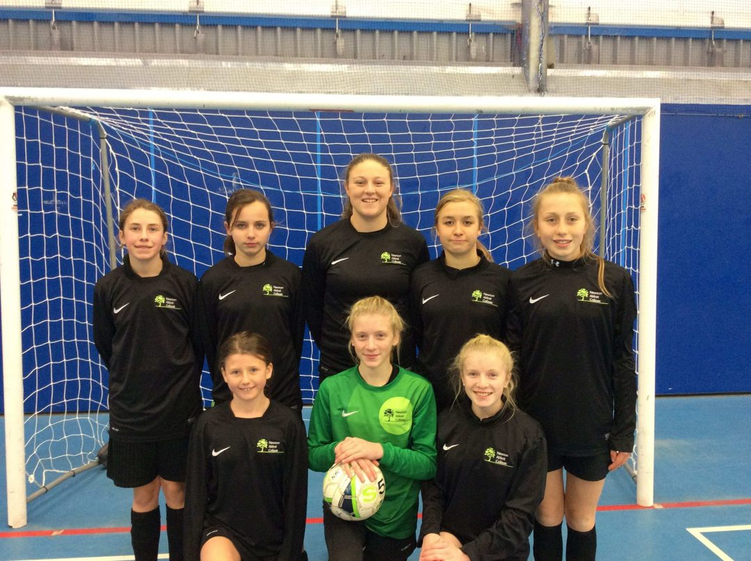 Newton Abbot College's U14 Futsal Girls Team