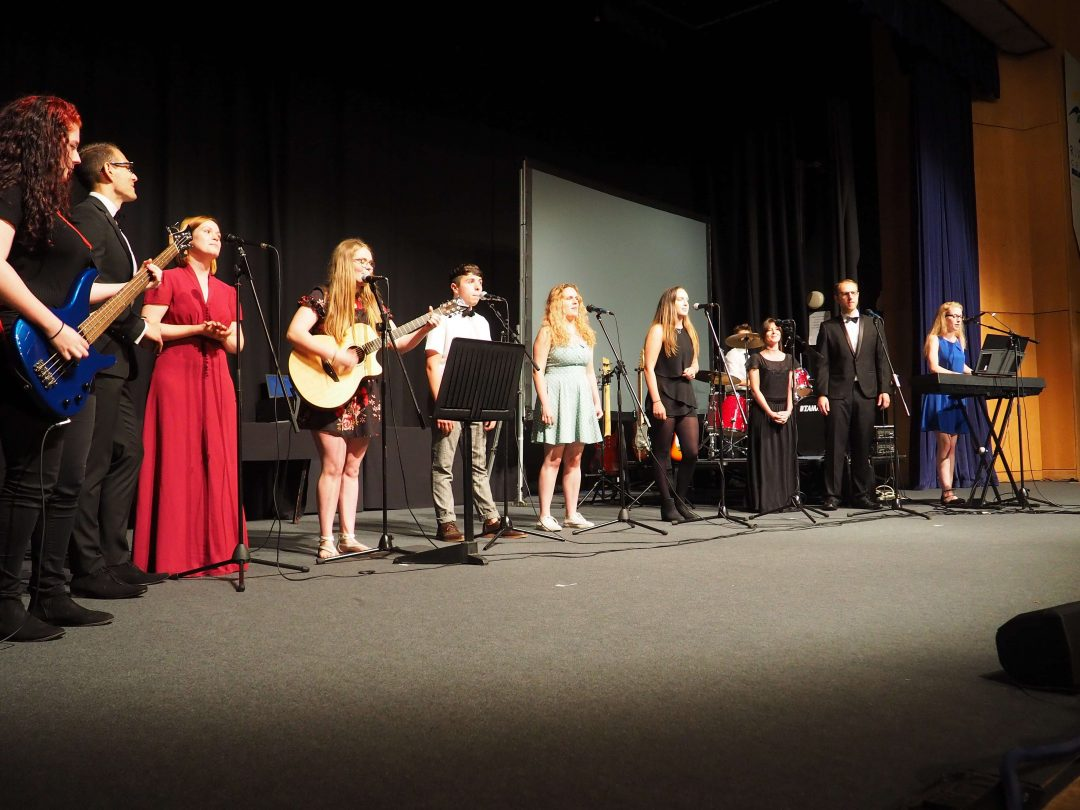 Staff and students performed together on the evening