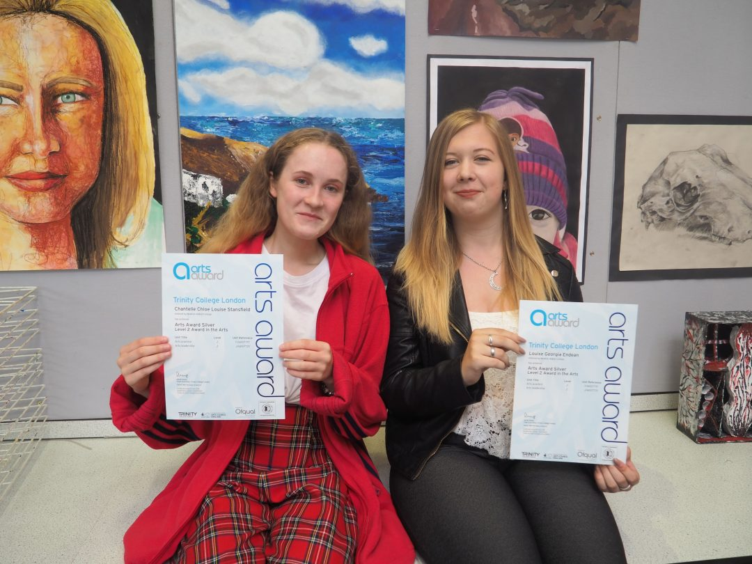 Chantelle and Louise with their awards